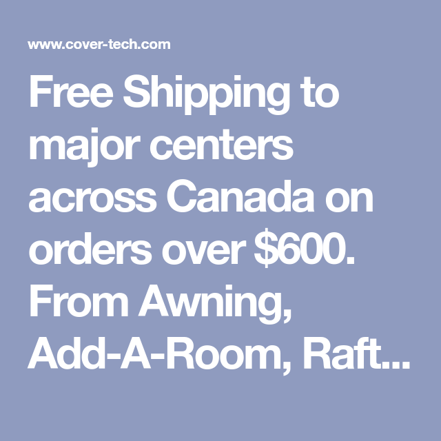 Free Shipping to major centers across Canada on orders ...