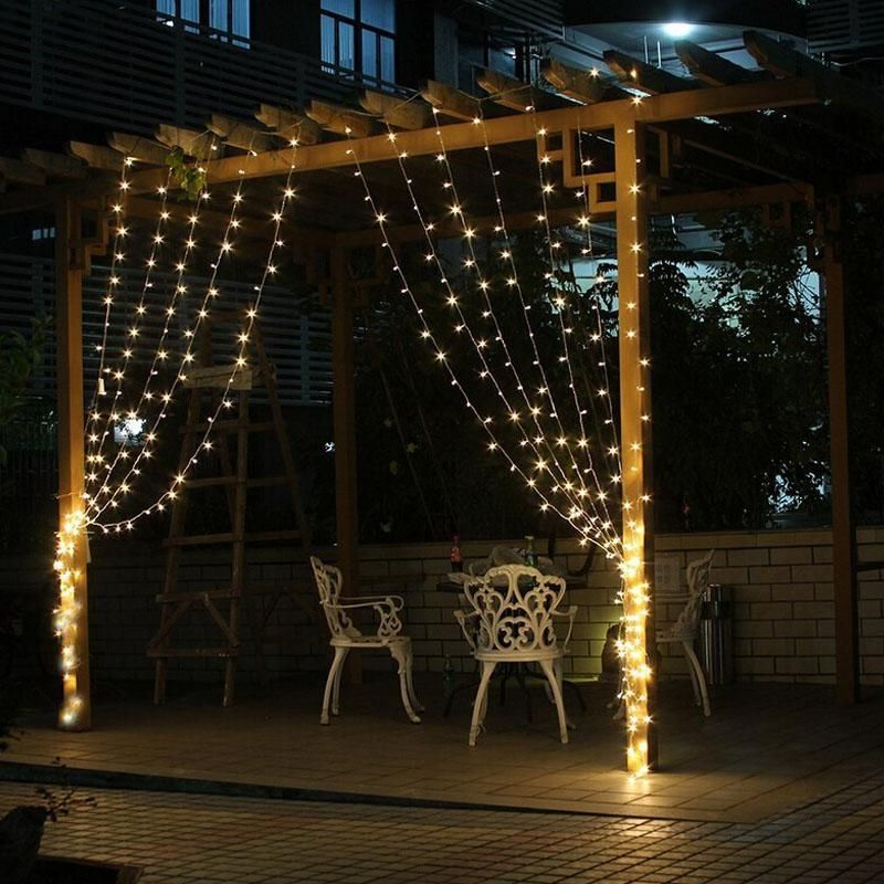 45x3M 300LED Curtain String Light Outdoor Party Fairy Lamp Wedding