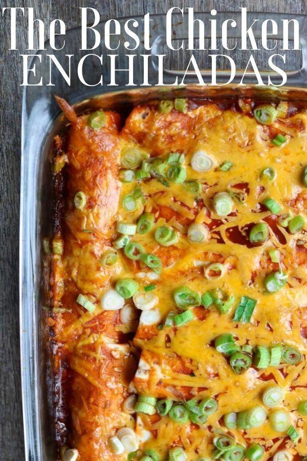 #besten #Die #Hühnerenchiladas The Best Chicken Enchiladas        Leckeres Hühnchen-Enchilada-Rezept, das Mehl-Tortillas für die einfache Zubereitung verwendet. Dies ist ein einfaches Rezept für ein Abendessen, das Sie an jedem Abend der Woche zusammenstellen können. Es ist auch ein großartiges Enchilada-Rezept, um übrig gebliebenes Hähnchen zu verzehren. #enchiladas #chickenenchiladas #chickendinner #todieforchickenenchiladas #besten #Die #Hühnerenchiladas The Best Chicken Enchiladas #todieforchickenenchiladas