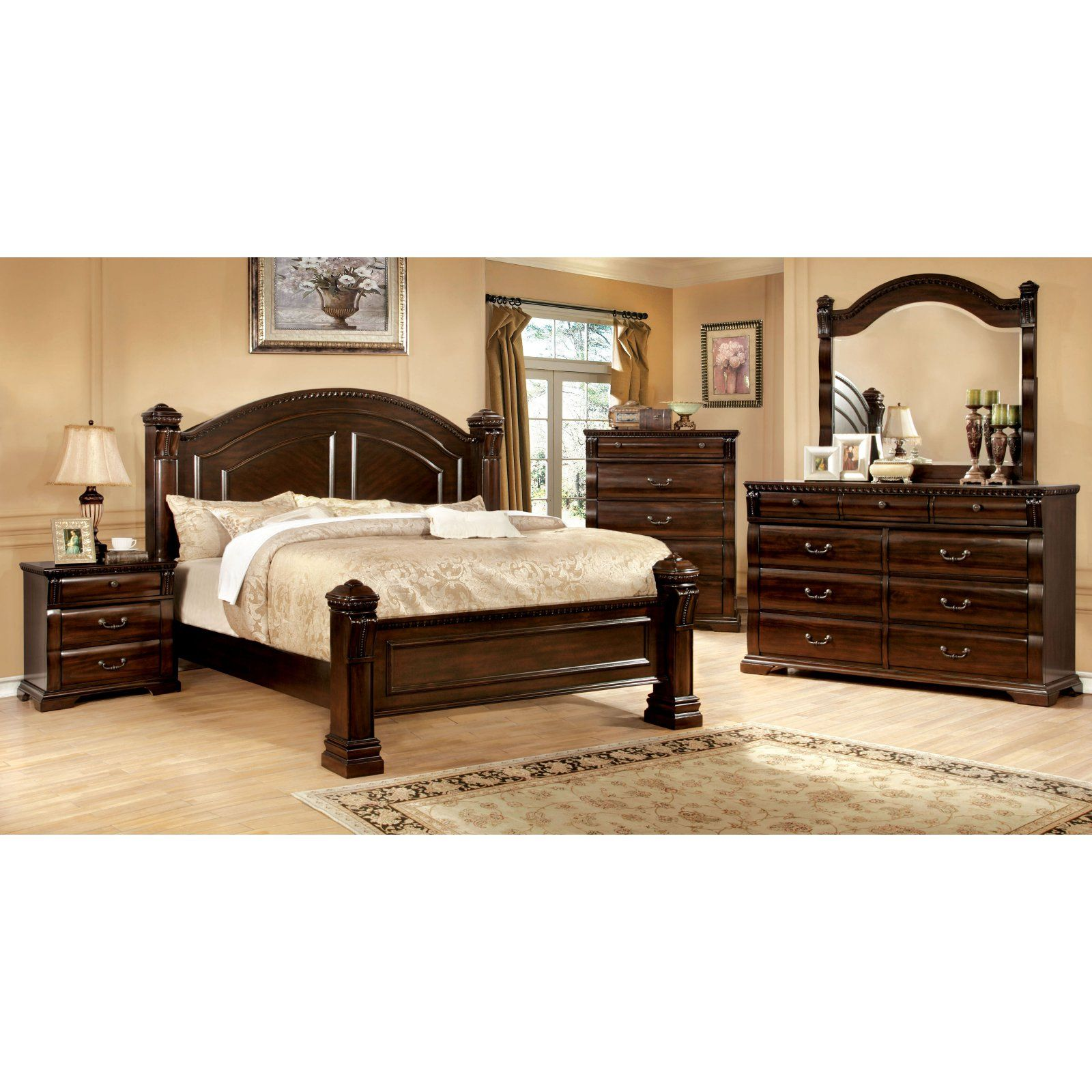 Furniture Of America Agostini Poster Bed Set Bedroom Sets Bedroom Furniture Sets Furniture