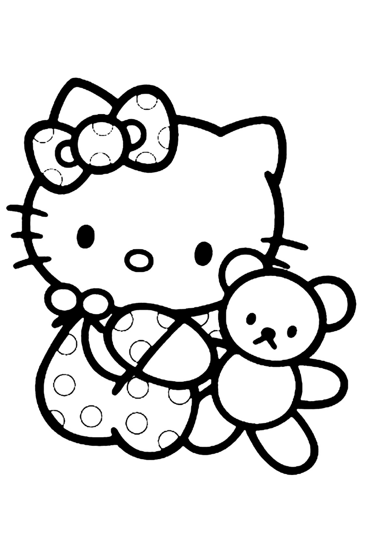 Hello Kitty Coloring Sheets Pictures