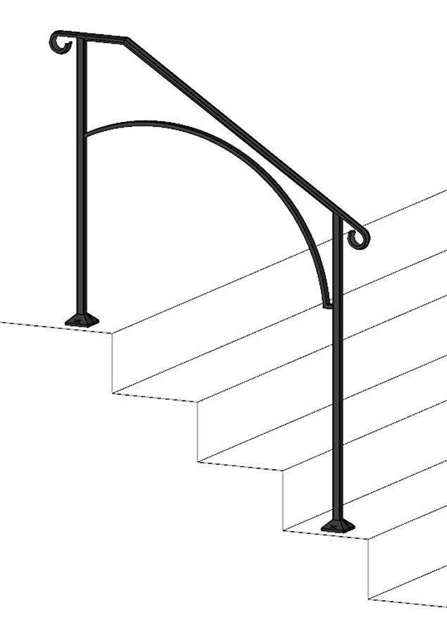 Best Diy Iron X Handrail Arch 3 Fits 3 Or 4 Steps Amazon 640 x 480