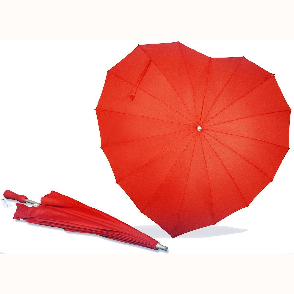 Amazon Com Aogv Forever Love Parasol Red Heart Shaped Girls