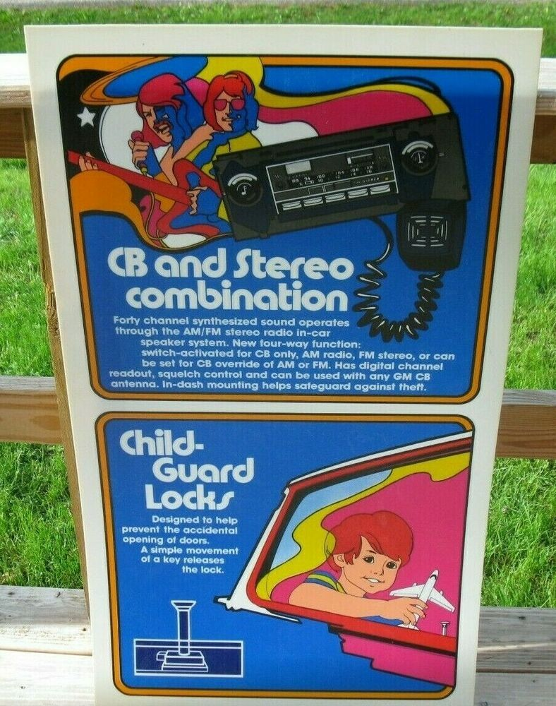 Early 1980s Car Accessories Dealership Sign CB Stereo