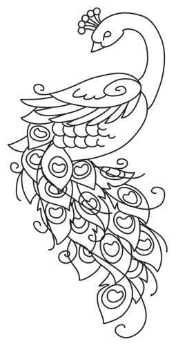Painted Peacock Embroidery Designs Hand Embroidery Designs Hand Embroidery