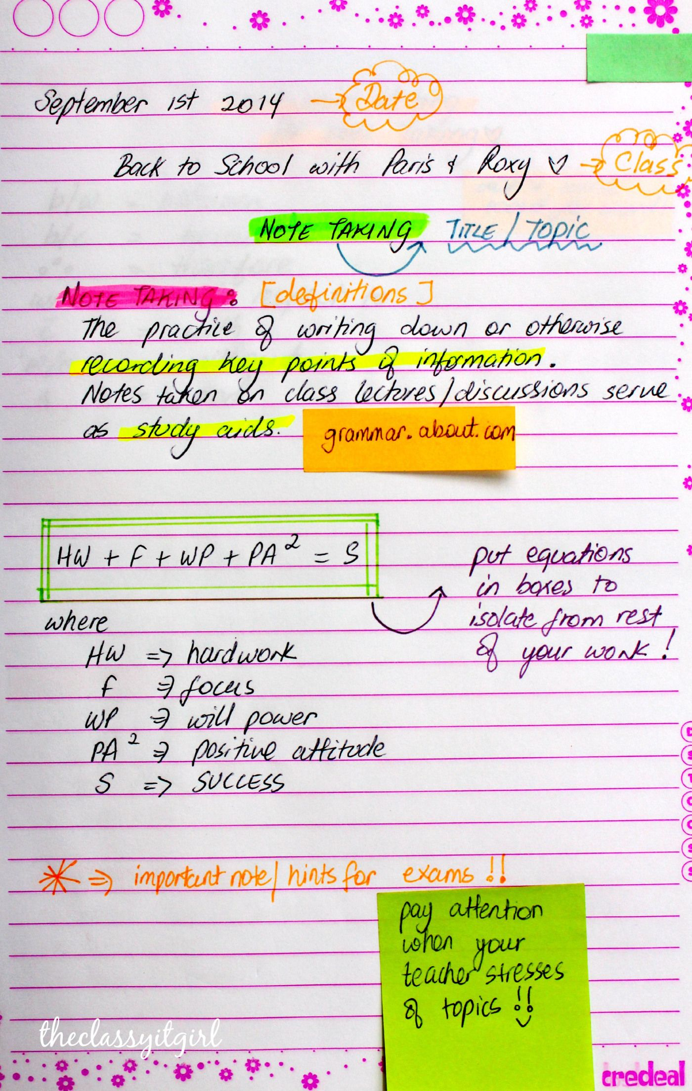 The Best Classroom Note Taking Tips