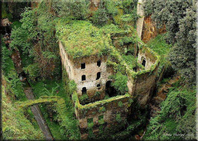 Another view of the secret hidey hole.  It is in Sorrento, Italy. (Gotta visit this place!) It is called the Valley of the Mills and this castle dates to around 900 A.D. Pretty groovy