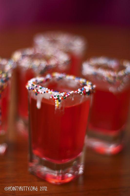 Pink birthday cake shot recipe 12oz Cotton Candy Pinnacle vodka 1