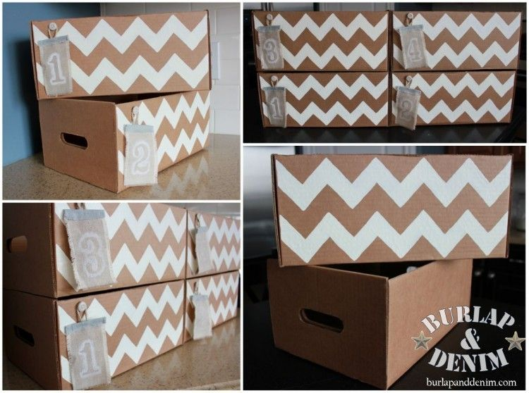 Dress Up A Cardboard Box For Cute And Free Closet Or Pantry Storage.  Recycle And. Cute Storage BoxesDecorative ...
