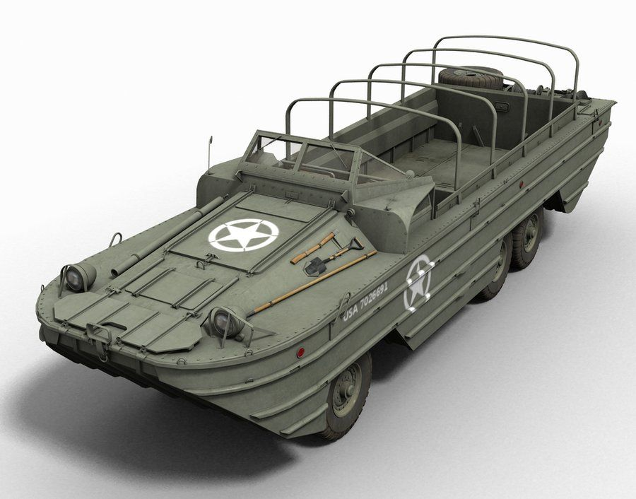 WWII US Marines DUKW amphibious truck World War 2 WW2 USA Army MOC block boat