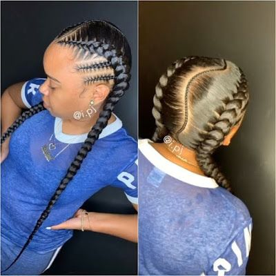 20 Two Braids Hairstyles For African Women To Try In Summer Nights Two Braid Hairstyles Feed In Braids Hairstyles Girls Hairstyles Braids