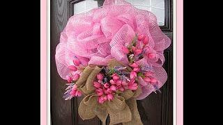 Spring Deco Mesh Wreaths Tutorials