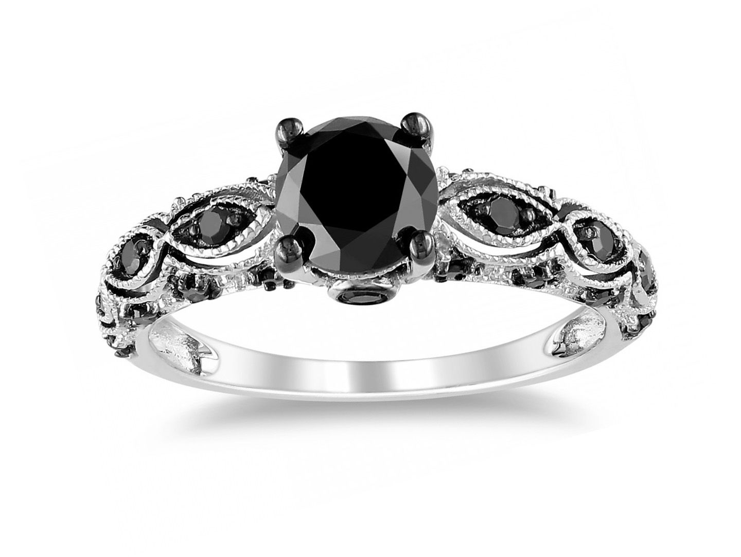 black and white wedding rings yahoo image search results - Black And White Wedding Rings