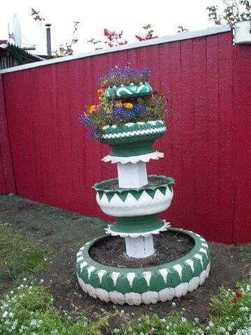 Jardinera diseños jardines Pinterest Jardineras, Llantas y - jardines con llantas