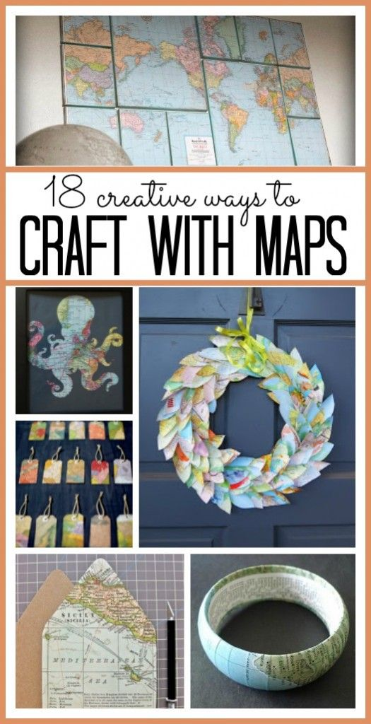 Crafts with Maps | DIY & Crafts | Map crafts, Crafts, Bee ...