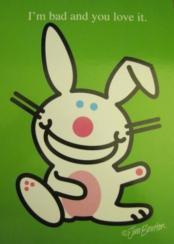 POSTER Its Happy Bunny Cooler