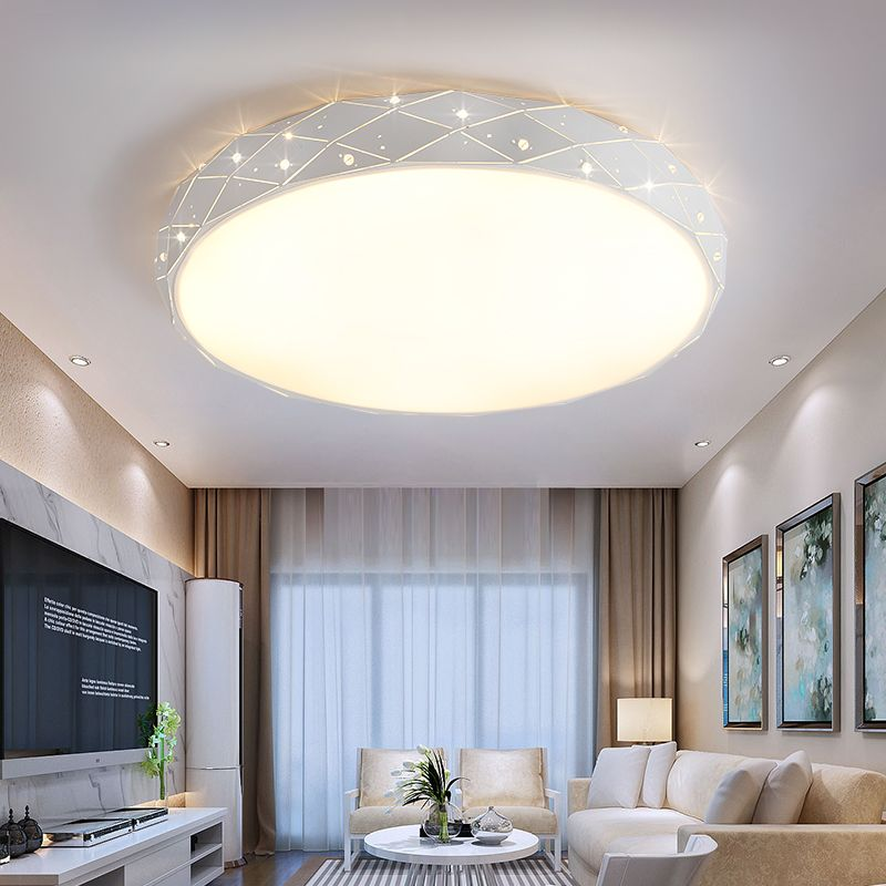 Simple Round Led Personality Bedroom Lamp Warm Romantic Ceiling Lamp Led Simple Living Room Ceili Ceiling Lights Living Room Living Room Ceiling Ceiling Lights