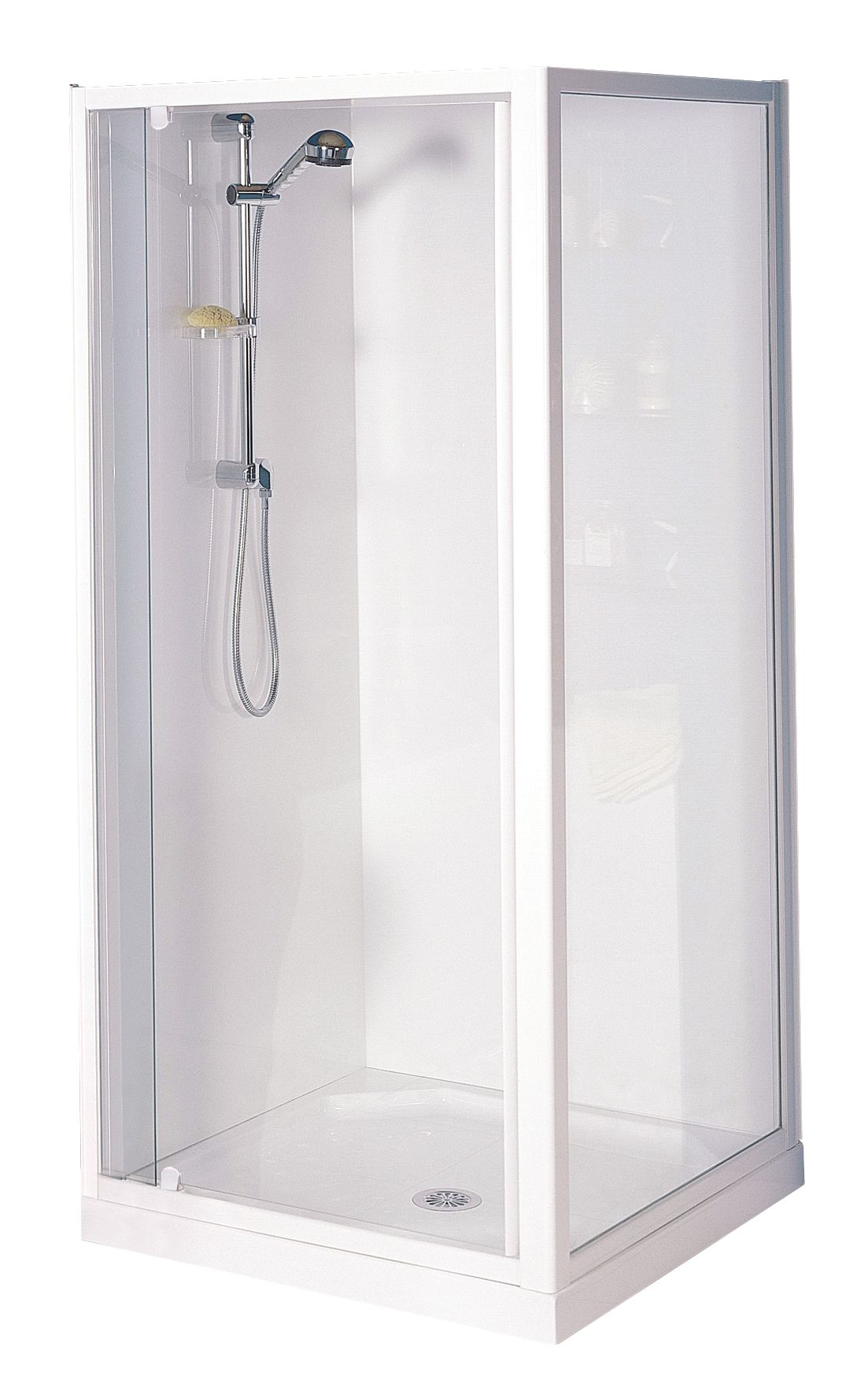 Clearlite Sierra Square Flat Wall Shower Enclosure Available At