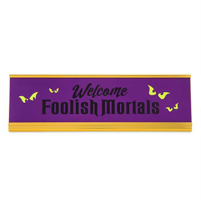 Halloween 2020 Nameplate The Haunted Mansion Desk Nameplate | shopDisney in 2020 | Disney