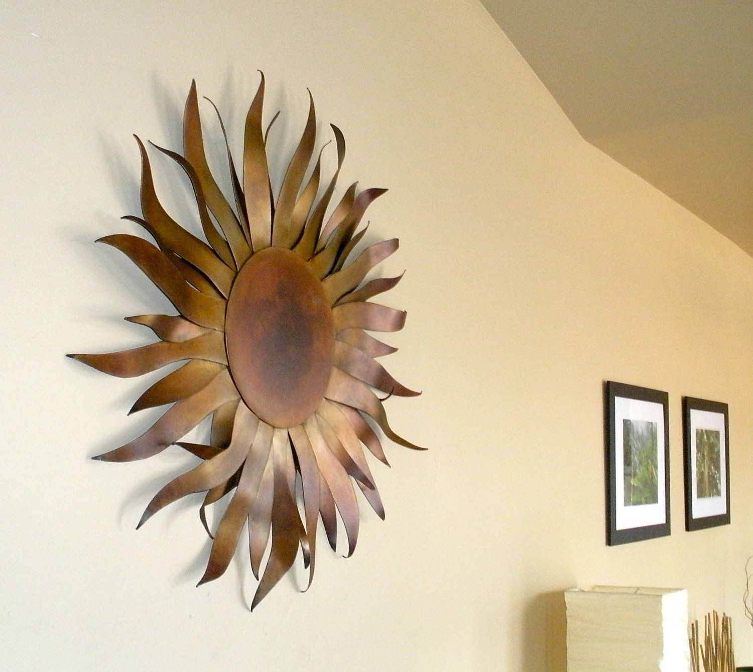 Metal Wall Art - Garden & Home Sculpture With Copper Patina. $350.00 ...