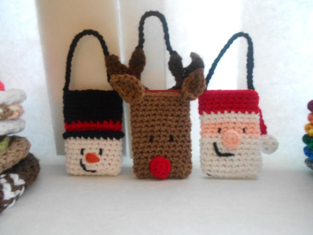 18 Patterns for Crochet Christmas Gift Bags, Boxes and Pouches ...