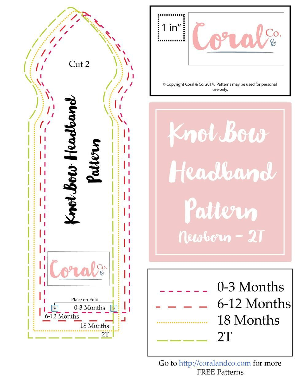 Make a Free Baby Headband Pattern! Easy knot bow headband. | sillon ...