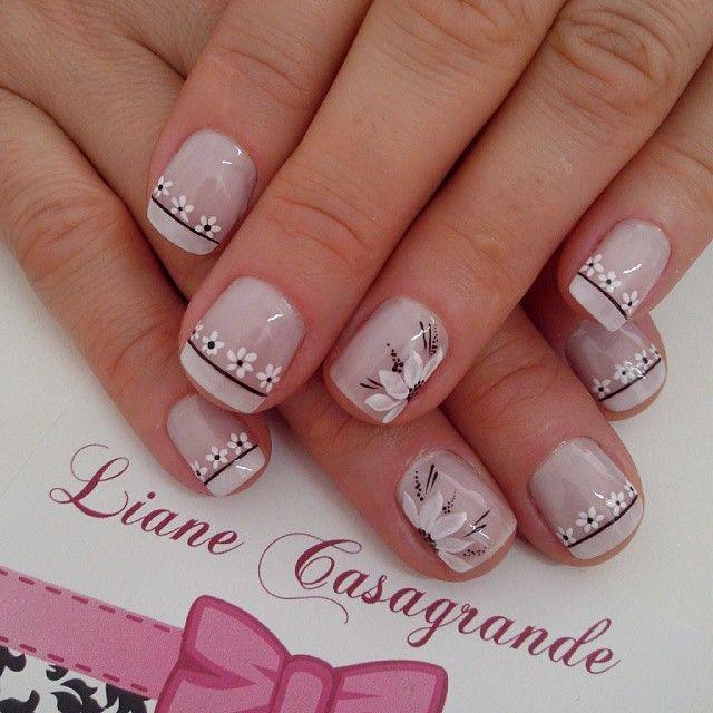 Instagram by lianecds #nails #nailart #naildesigns | Uñas de flores ...