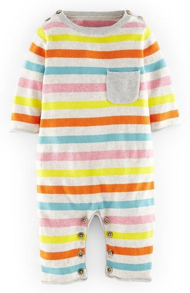 9fe7840d1861 Free shipping and returns on Mini Boden  Cosy  Stripe Knit Romper (Baby  Girls) at Nordstrom.com.  p  B STYLE