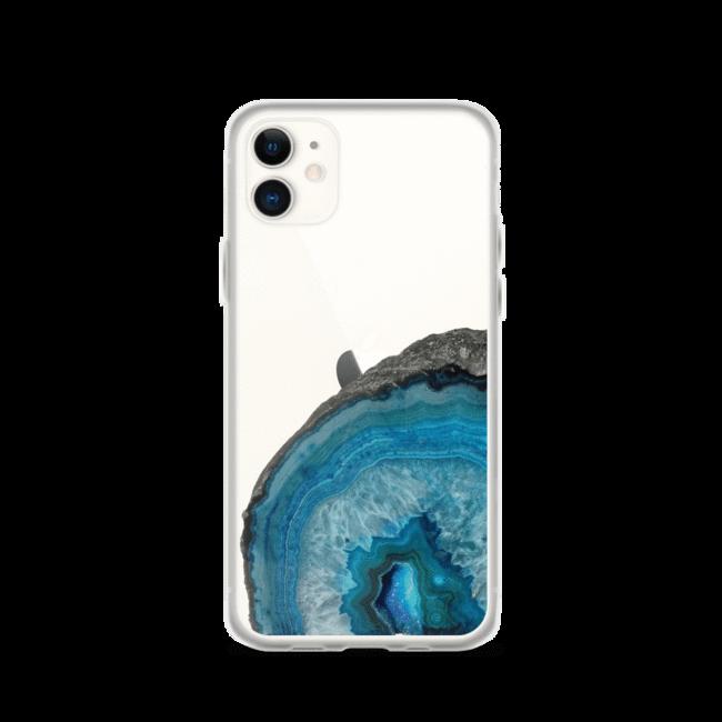 Blue Agate Geode Clear Phone Case Work in 2020
