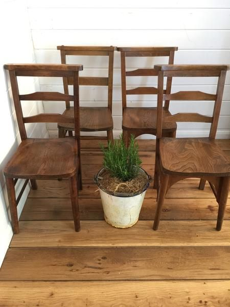 Vintage French Chapel Chairs Lovingly Made Garden Home Vintage