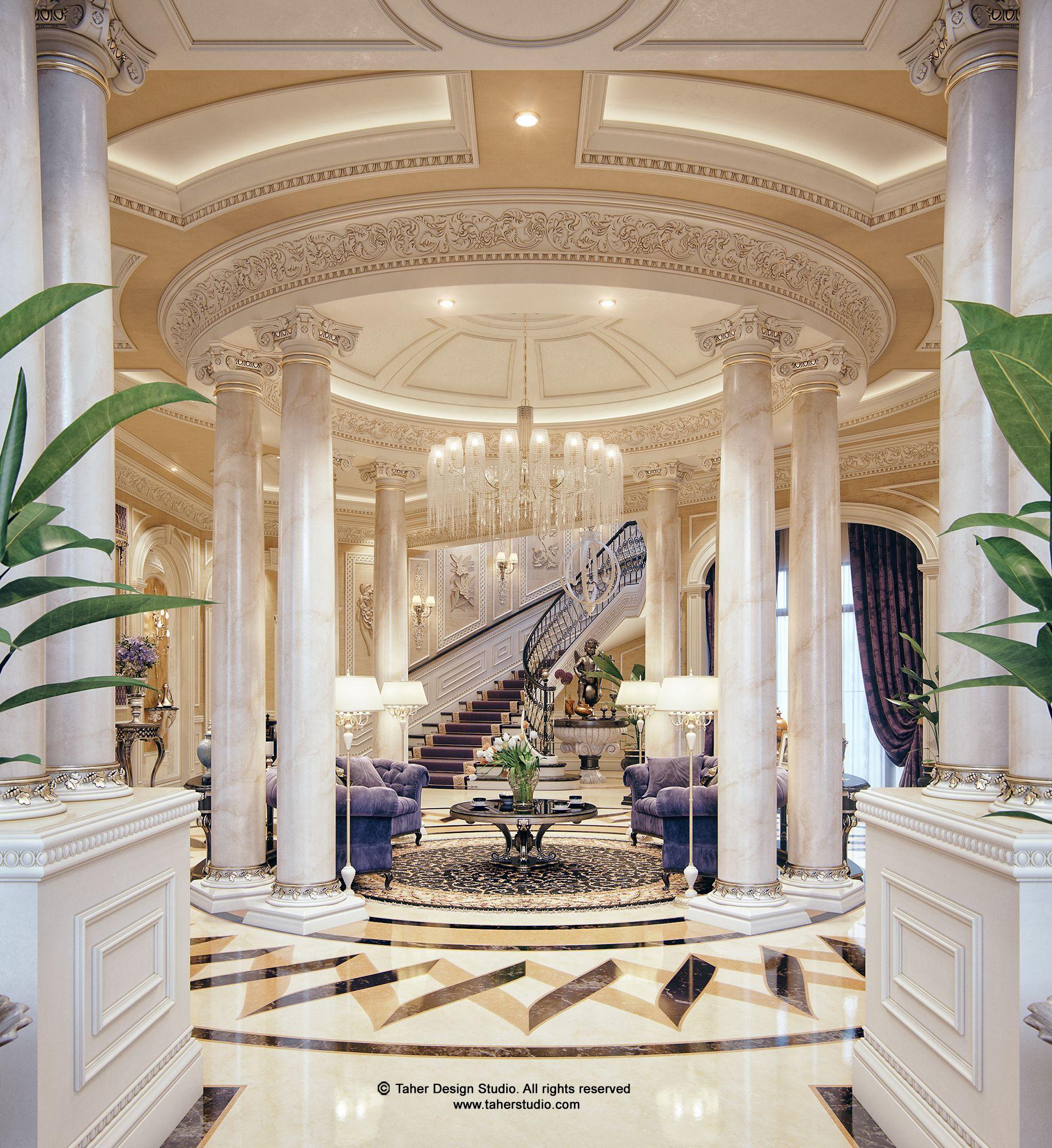 """Luxury Foyer Interior Design: Luxury Mansion Interior """" Qatar """""""