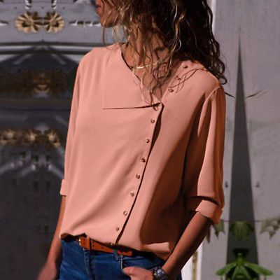Details about Women Fashion Long Sleeve Office Lady Chiffon Blouse Shirt T-Shirt Ladies Top