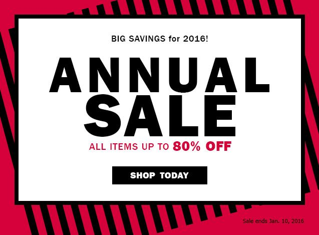 All items up to 80% OFF