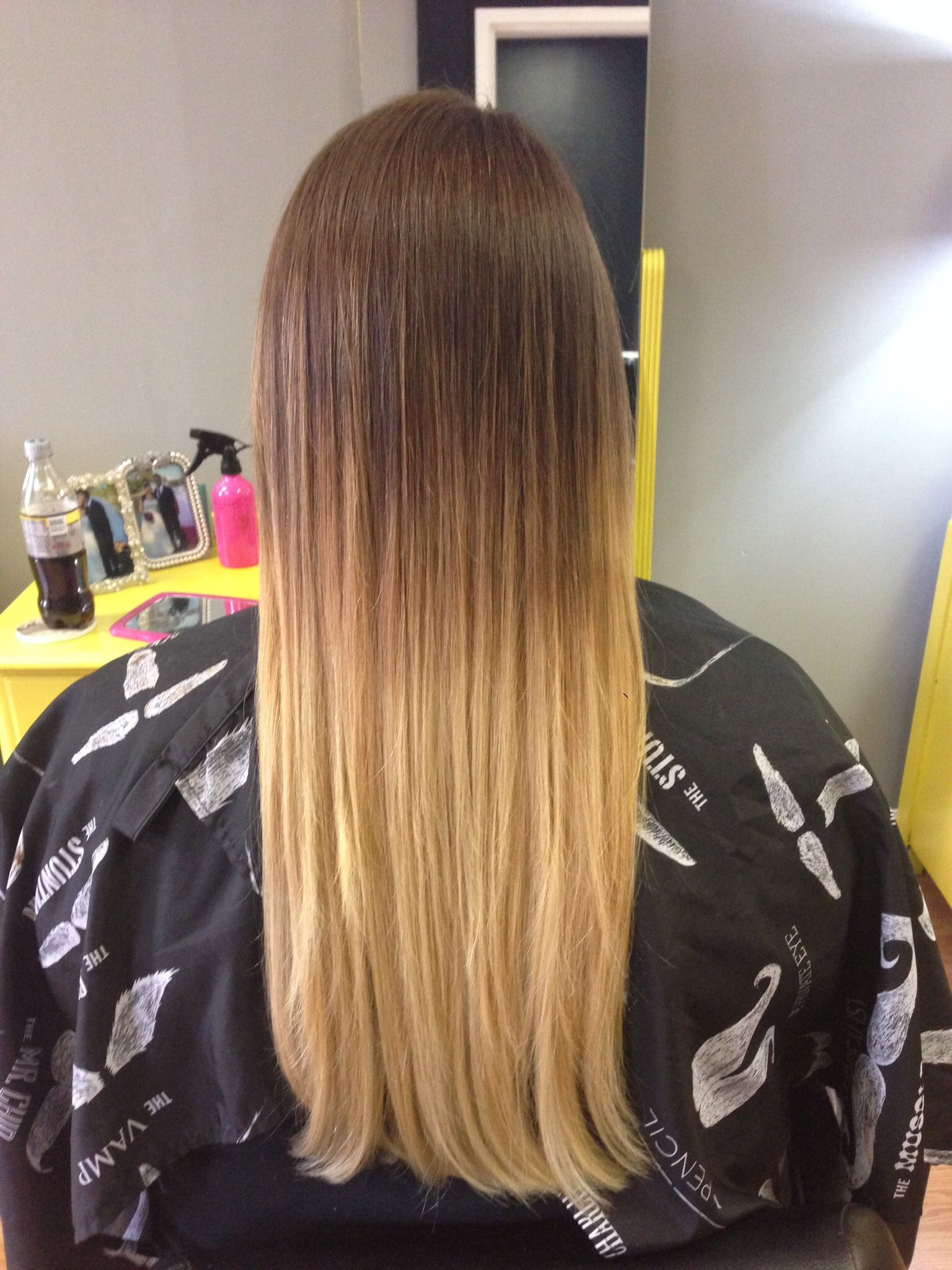High contrast, balayage ombre :) color by Anna Watkins at Soapbox ...