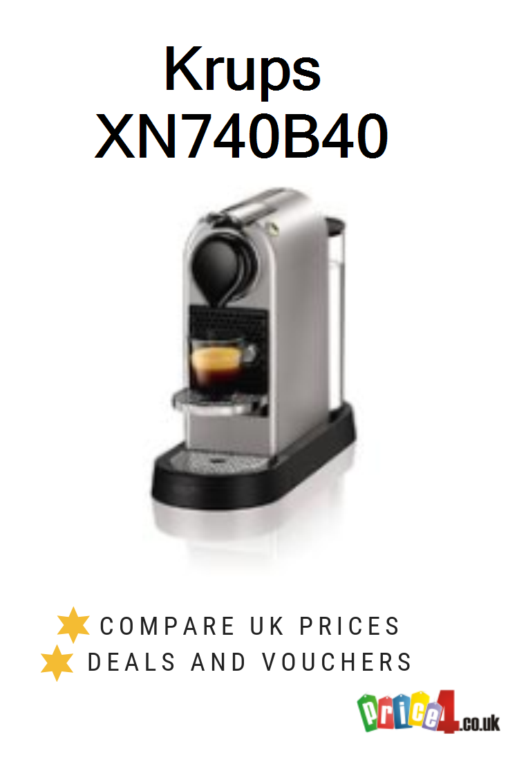 Krups Xn740b40 Uk Prices Nespresso By Krups Xn740b40 Nespresso Citiz Coffee Machine 1260 W Silver Deals And Vouchers Krups Coffee Machine Coffee