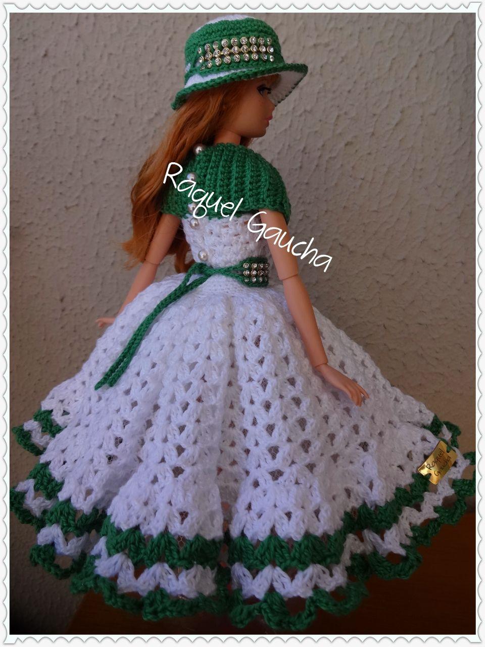 Cléa5 #Barbie #Doll #Crochet #Muñeca #Dress #Vestido #Sombrero ...