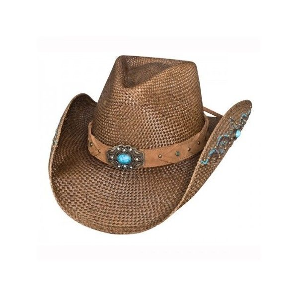 ead36246b7dcc Bullhide Amnesia Womens Straw Cowboy Hat ( 64) ❤ liked on Polyvore  featuring accessories