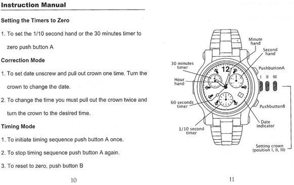 Renato Chronograph Instruction Manual Writing Exercises Manual