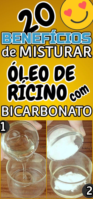 20 Pequenos Milagres Do Oleo De Ricino E Bicarbonato De Sodio Beneficios Do Oleo De Ricino Oleo De Ricino Bicarbonato De Sodio