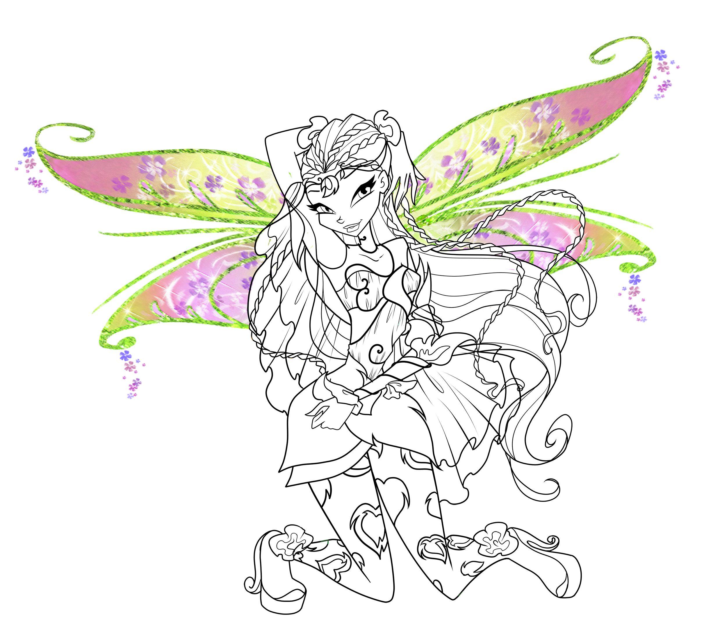 Winx Club Flora (com imagens)   Colorir