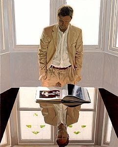 """Reflection With Madame X"" ~  Iain Faulkner (Scottish, born 1973)"