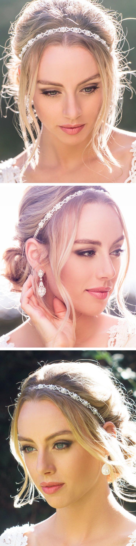 Eden Pearl & Crystal Headband | Peinados, Tocado de novia y De novia