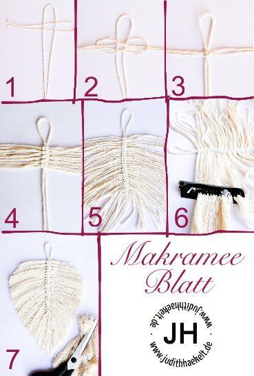 Makramee-Blatt – kostenlose Anleitung – judithhaekelt.de, #ANLEITUNG #judithhaekeltde #koste...