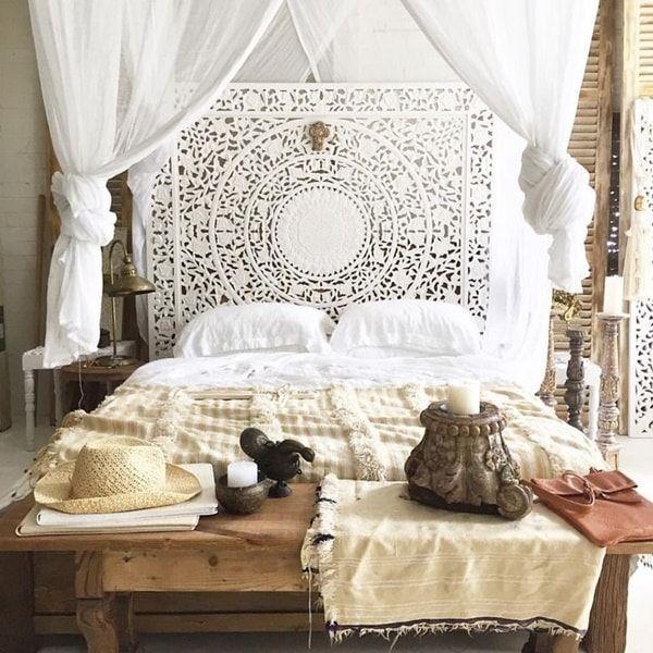 Ideas para decorar con mandalas decoraci n con mandalas dormitorios - Cabecero mandala ...