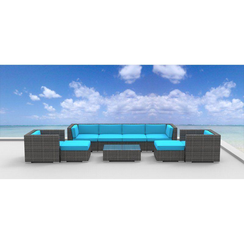 urban furnishing fiji 9 piece outdoor wicker patio furniture set