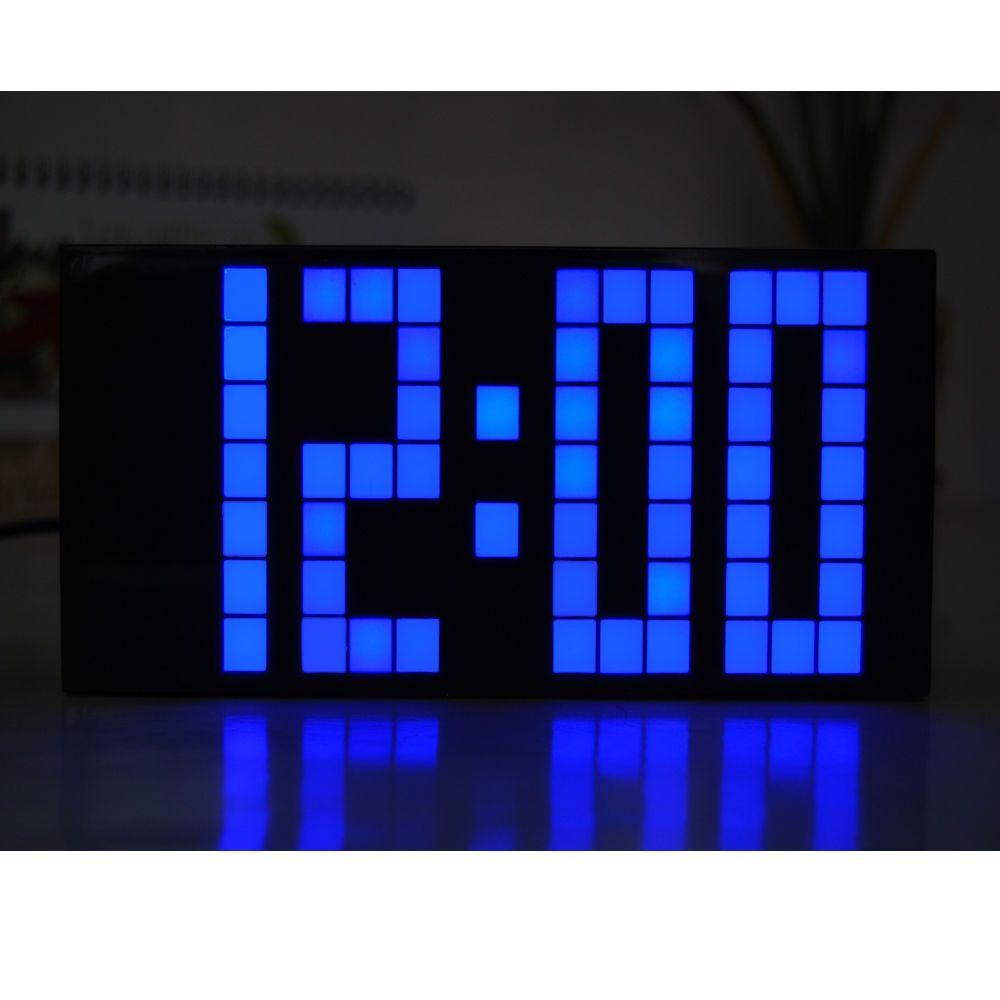Led digital alarm clock big screen snooze watch digital wall clock