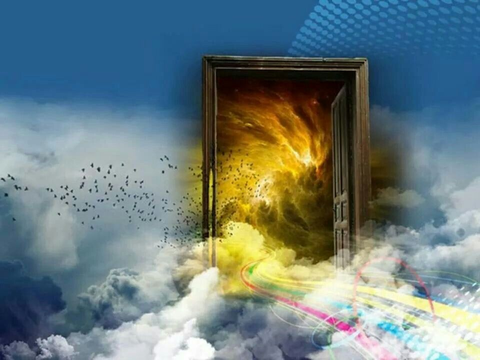 Pin by Jenn on Portals, doors and gates | Amazing paintings, Painting, Prophetic art