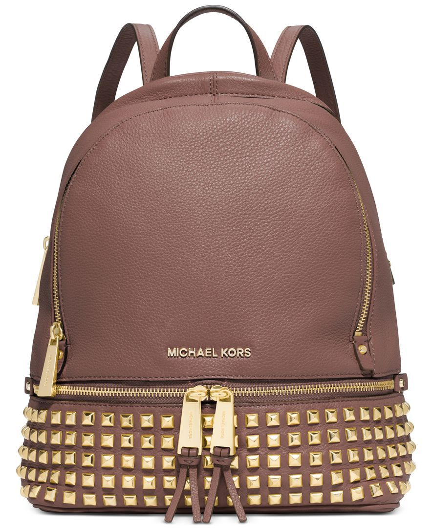 MICHAEL Michael Kors Rhea Small Studded Backpack - Handbags & Accessories - Macy's