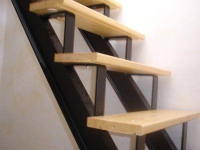 Escaleras hierro c madera barandas hierro d nq np 4585 for Como hacer una escalera de hierro para interior