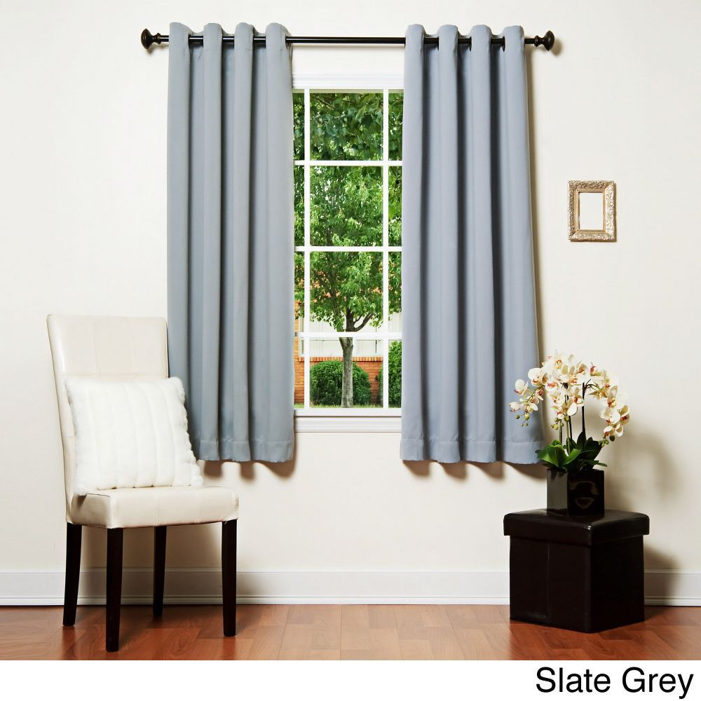 Aurora home grommet top thermal insulated blackout inch curtain